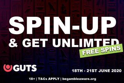 Get Unlimited GUTS Free Spins Bonuses