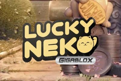 Lucky Neko Gigablox Mobile Slot Logo