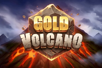 Gold Volcano Mobile Slot Logo