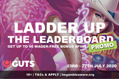 GUTS Casino Free Spins Ladder Up Leaderboard