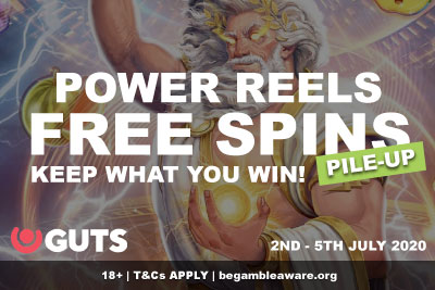 GUTS Casino Free Spins Pile-Up - Keep What You Win