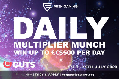 GUTS Casino Daily Multiplier Munch - Win Cash Prizes