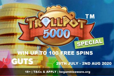 GUTS Casino Free Spins - Trollpot 5000 Special