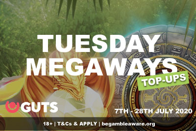 GUTS Casino Tuesday Megaways Top-Ups