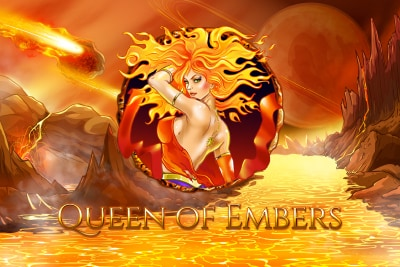 Queen of Embers Mobile Slot Logo