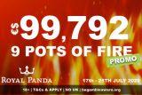 Royal Panda Mobile Casino 9 Pots of Fire Promotion