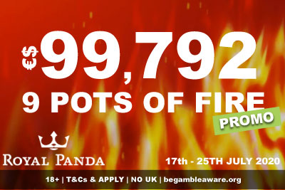 Royal Panda Mobile Casino 9 Pots of Fire Promotion