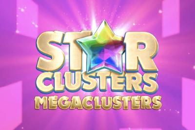 Star Clusters Megaclusters Mobile Slot Logo