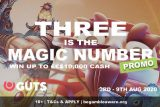 Win Real Money In The GUTS Casino 3 Is The Magic Number Promo