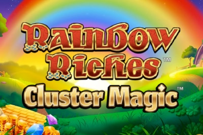 Rainbow Riches Cluster Magic Mobile Slot Logo