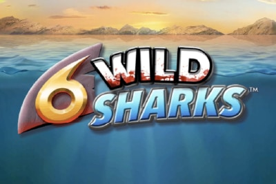 6 Wild Sharks Mobile Slot Logo