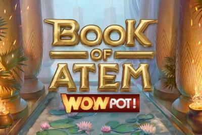 Book of Atem Wow Pot Mobile Slot Logo