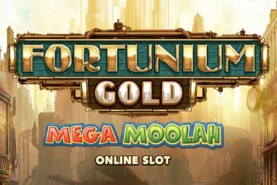 Fortunium Gold Mega Moolah Mobile Slot Logo