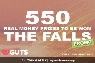 550 Real Money Prizes To Be Won At GUTS Casino