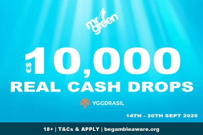 Get Playing In The Mr Green Mobile Casino 10K Cash Drops