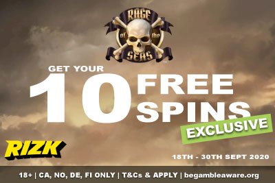 Get Your Rizk Mobile Casino Free Spins Bonus On Rage of Seas Slot