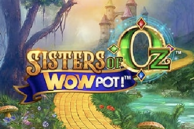 Sisters of Oz WowPot Mobile Slot Logo