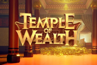 Temple of Wealth Mobile Slot Logo