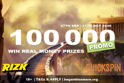 100K Quickspin Slot Tournaments - Win Real Money