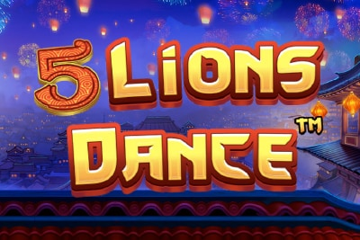 5 Lions Dance Slot Mobile Slot Logo