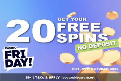 New Casino Friday Free Spins No Deposit Bonus