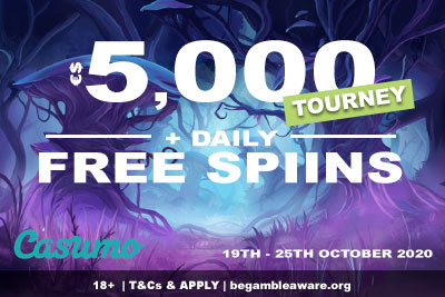 Deposit & Get Casumo Free Spins + Enter The 5k Tourney