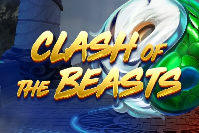 Clash of the Beasts Mobile Slot Logo