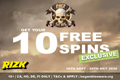 Get 10 Free Spins On NetEnt Rage of the Seas