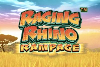 Raging Rhino Rampage Mobile Slot Logo