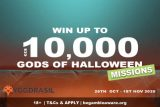 Win up to €£$10K: Yggdrasil Gods of Halloween Slot Tournament