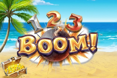 123 Boom Mobile Slot Logo