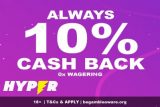 Hyper Casino Cash Back Offer