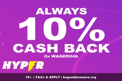 Hyper Casino Cash Back Offer