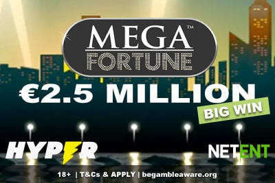 Hyper Casino Slots Player Wins 2.5 Million Mega Fortune Jackpot