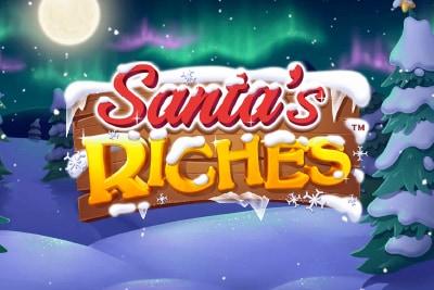 Santas Riches Mobile Slot Logo