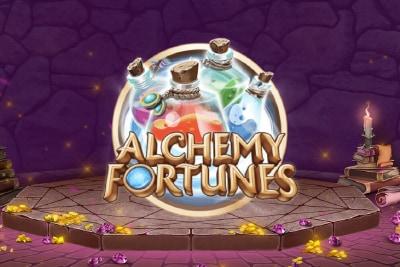 Alchemy Fortunes Mobile Slot Logo
