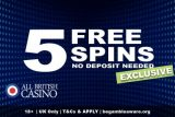 All British Casino Free Spins Bonus Exclusive