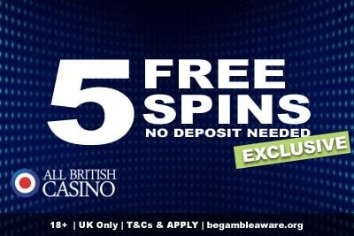 All British Casino Free Spins Bonus Exclusive