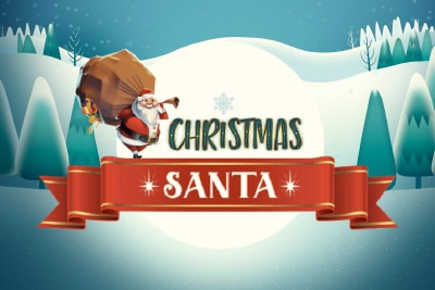 Christmas Santa Mobile Slot Logo