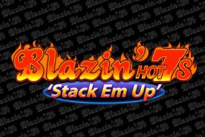 Blazin Hot 7s Stack Em Up Mobile Slot Logo