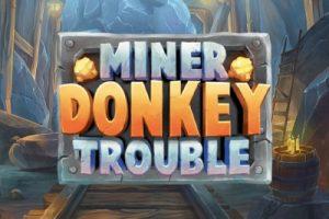 Miner Donkey Trouble Mobile Slot Logo