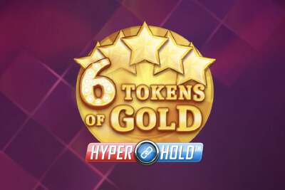 6 Tokens Gold Mobile Slot Logo