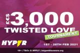 Hyper Casino Slot Tournament - Win £€$3000 Twisted Love