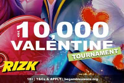 Enter the 10K Rizk Casino Tournament This Valentines