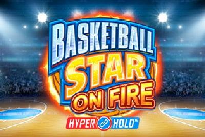 Basketball Star On Fire Mobile Slot Logo