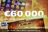 Casino Friday Slots Tournament - Win A Share of €60,000