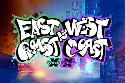 East Coast vs West Coast Mobile Slot Logo