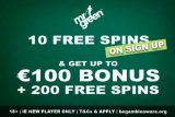 Mr Green Bonus Ireland - 10 Free Spins No Deposit + €100 + 200 Free Spins