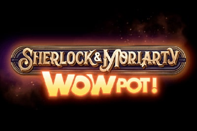 Sherlock & Moriarty Wowpot Slot Logo