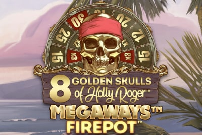 8 Golden Skulls Megaways Slot Logo
